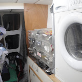 Washing Machine in Storage Area