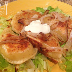 Bacon Cheddar Pierogies