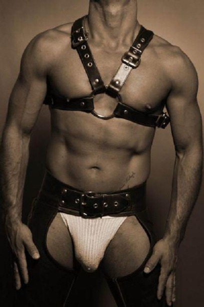 B&amp;W Leather Man1