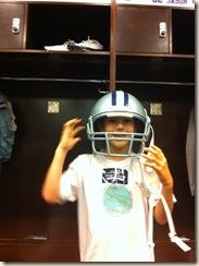 PJ with helmet