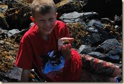 JB and sea urchin