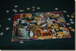 puzzle in progress