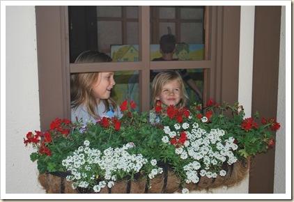 girls in window