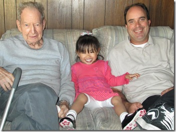 Grandpa and Dad with Lauren