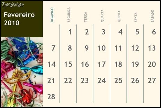 CALENDARIO FEV2010