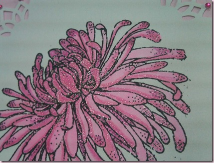 Chrysanthemum Card Detail