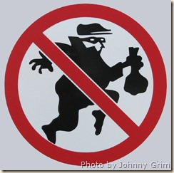 No burglars sign