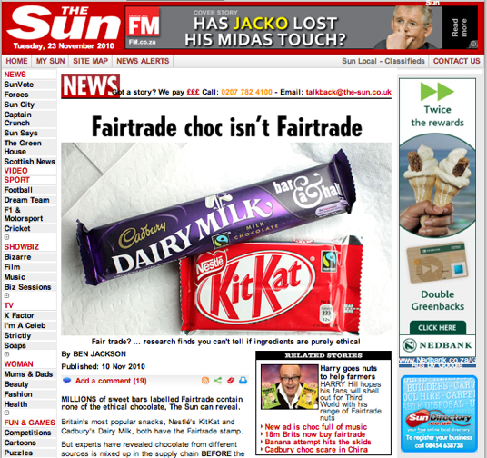 Millions of chocolate bars labelled Fairtrade contain none of the ethical chocolate | The Sun |News.jpg