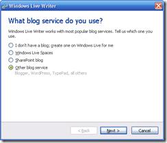 Konfigurasi akin blog saat pertama kali pemakaian