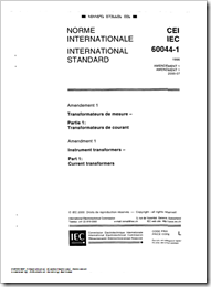 Cover IEC 60044-1 International Standard