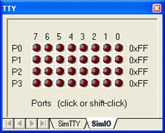 kondisi lampu mati bila  tombol tidak ditekan