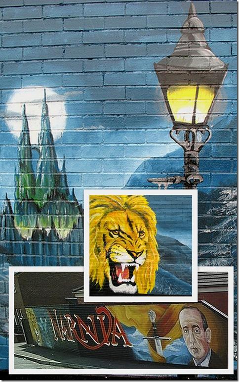 Dee Street Mural Belfast CS Lewis Narnia