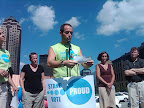 Ryan Crane participating in One Iowa's counterprotest of NOM in Des Moines on August 1. (Photo courtesy Prop 8 Trial Tracker