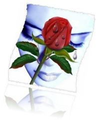 mujer_con_rosa_mojada_llorando