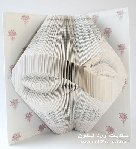 اعمال فنية بصفحات الكتب
