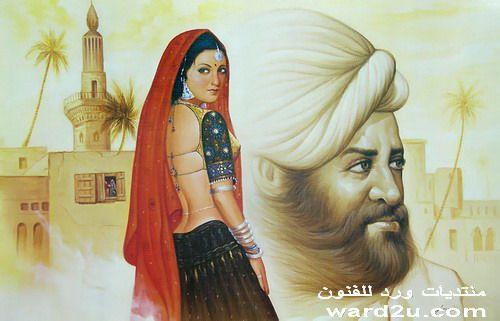 جمال المرأه الهنديه فى لوحات