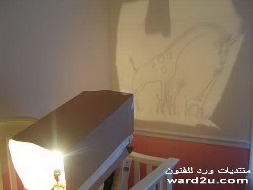 رسم غرفة اطفال بالمصباح السحرى
