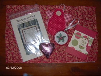 Swap goodies for Angie