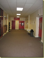 corridors outside lecture hall which can be used for display - this way