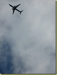 sadly there were frequent aircraft passing overhead