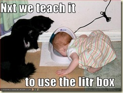 funny-pictures-cats-teach-baby-to-drink-water