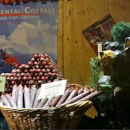by Denise Dale - Food & Drink Meats & Cheeses ( sausage, bear, salami, market, xmas, food, german, chorizo,  )