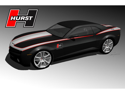 Hurst changes a new Chevrolet Camaro