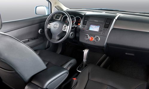 Interior of Nissan Tiida
