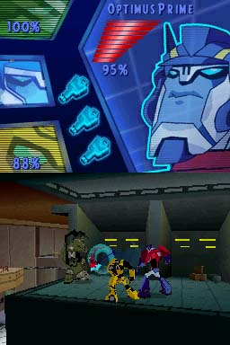 optimus prime in ds transformers animated the game