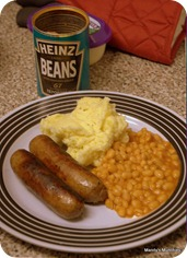 bangers mash beans