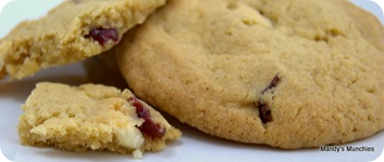 Cranberry and White Choc Cookies