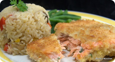 Trout Kiev and Pilaf Rice