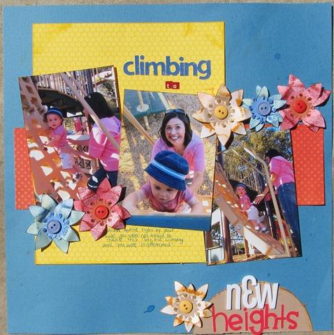 Family 2010- Sandra and Blake climbing