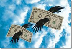 dinheiro voando