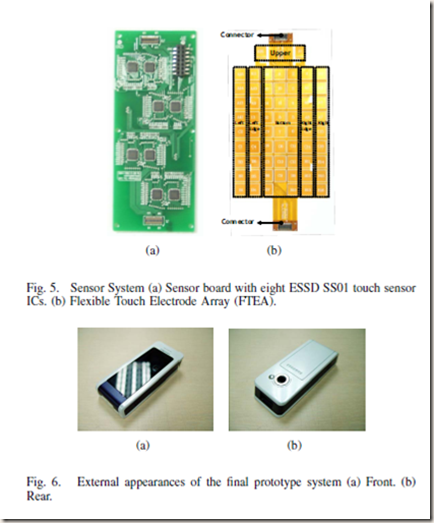 """W. Chang, K. E. Kim, H. Lee, J. K. Cho, B. S. Soh, J. H. Shim, G. Yang, S.-J. Cho, and J. Park, """"Recognition of Grip-Patterns by Using Capacitive Touch Sensors,"""" in Industrial Electronics, 2006 IEEE International Symposium on, 2006, pp. 2936-2941."""