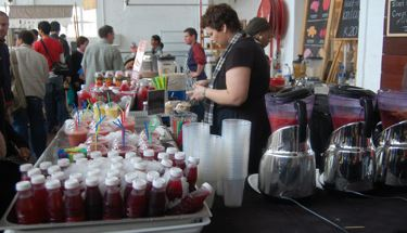 The smoothie lady at Old Biscuit Mill Market