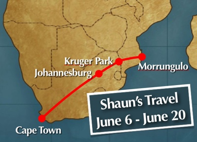 Shaun's June Travels