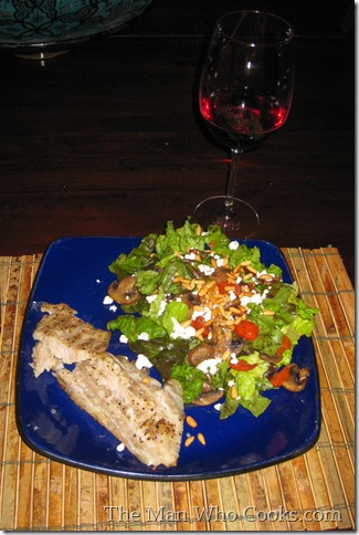 Grilled Grouper w/roasted Tomato & Mushroom Salad