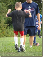 August 2010 - Connor's first soccer practice