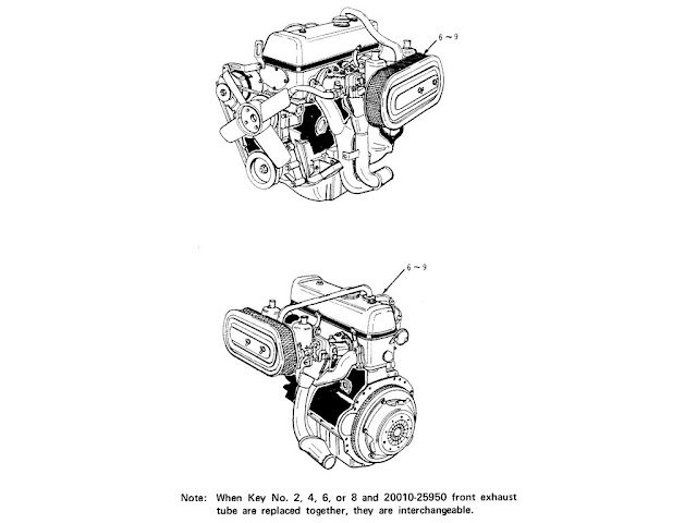 "Datsun Fairlady Parts illustration no. 000A-2 Assy Engine 2000 (U20) ""SU"""