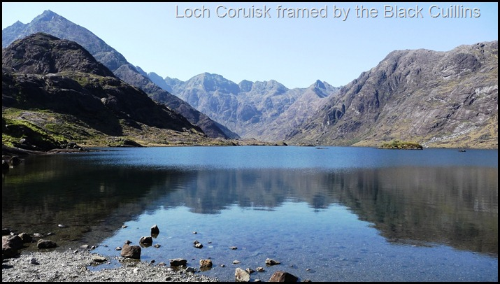 Loch Coruisk framed by the Black Cuillins