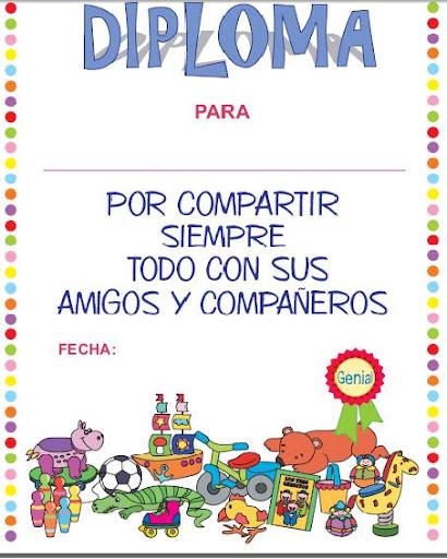 DIPLOMAS INFANTILES PARA EL AULA