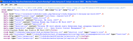 Metadata pada setiap artikel