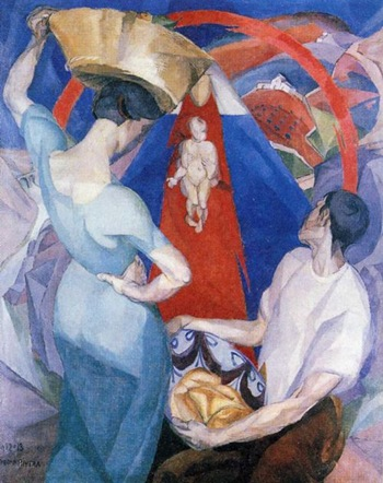 rivera The Adoration of the Virgin. 1913