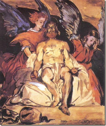 Christ with Angels Edouard Manet