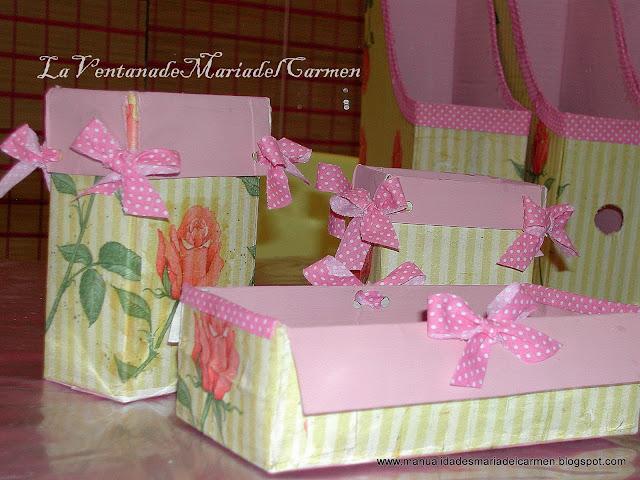 Manualidades la ventana de maria del carmen - Manualidades cajas decoradas ...