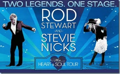 Rod Stewart and Stevie Nicks Heart and Soul Tour 2011 Banner 1