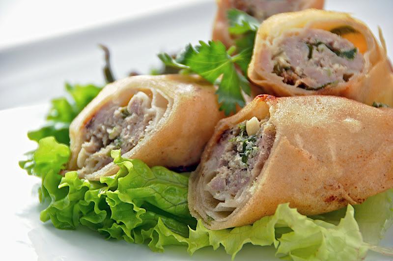 spring rolls, rice paper rolls, summer rolls