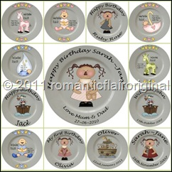 personalized birthday  and baby plates