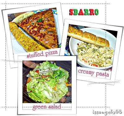 Sbarro food loot!